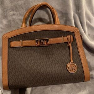 Michael Kors Logo Leather satchel